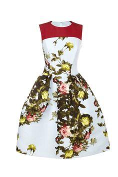 Carolina Herrera Rose-Print Dress. Perfection.