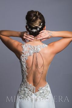 The fantastic embroidered backless Tamy gown is a spectacle of handmade details. Find this gorgeous wedding dress in our stores in London, United Kingdom and Santiago de Chile. Bridal Stores, Gorgeous Wedding Dress, Bridal Wedding Dresses, I Dress, Marie, Backless, Gowns, Formal Dresses, London United