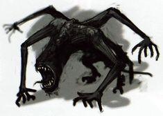 The Legend of Zelda: Twilight Princess (Gamecube) Official Artwork Shadow Creatures, Dark Creatures, Mythical Creatures Art, Fantasy Creatures, Shadow Monster, Monster Art, Creepy Drawings, Creepy Art, Monster Concept Art