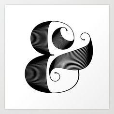 Ampersand Art Print by Jude Landry - Elegant Ampersand Tattoo, My New Room, Graphic Design Art, Framed Art Prints, Line Art, Decoration, Photo Art, Contemporary Art, Artsy