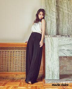 Korean Actress Lim Ji Yeon Marie Claire Magazine September 2015 Photoshoot