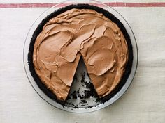 """No Bake Chocolate Pie I made with my oldest son in the """"Alan Goes to College"""" episode. It's really quick and easy, yet super chocolatey and decadent... A lifesaver if you need a last minute dessert for a holiday party!"""