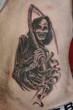 Gorgeous Grim Reaper Tatt