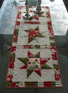 Christmas Table Runners - Quilting