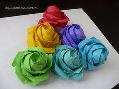 Sato Naomiki Origami Pentagon Rose by OrigamiPieces.deviantart.com on @DeviantArt