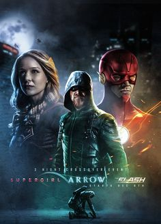Arrow, Supergirl, The Flash Flash Tv Series, Arrow Tv Series, Tv Series To Watch, Supergirl Superman, Superman Movies, Supergirl And Flash, Dc Movies, Films, Disney Films