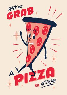 Telegramm Snack Pack Pizza Siebdruck - Pizza Murals or Signs - Pizza Sign, Pizza Art, Star Pizza, Pizza Menu, Pizza Restaurant, Pizza Kunst, Pizza Cartoon, Cartoon Art, Pizza Quotes