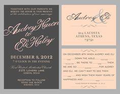 Wedding Invitations// Script font by ByDesignWeddings on Etsy, $1.60