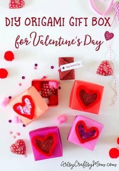This DIY Origami Gift Box is perfect for Valentine's Day! Fill it with small gifts, candy and a cute message straight from the heart! Valentines Games, Valentine Box, Valentines For Kids, Small Gifts For Men, Diy For Men, Origami Gift Box, Diy Origami, Crafts For Kids To Make, Craft Activities For Kids