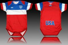 U.S.A. AWAY WORLD CUP 2014 BABY  SOCCER SUIT JERSEY MAMELUCO