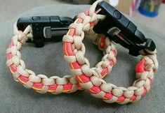 Bunker Gear Inspired Paracord Survival Bracelet Fire Starter