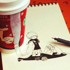 #starbucks #coffee #art スターバックスとコラボしたイラストがほっと可愛い | DDN JAPAN
