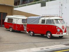 kombi and trailer