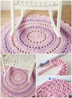 DIY Crochet Mandala Floor Rug Free Pattern-10 Handmade Crochet Area Rug Ideas