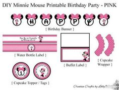 1-2-3 Neat and Tidy: FREE Minnie Mouse Birthday Printables!