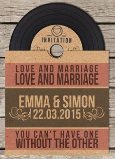 Cool Retro Wedding CD Favor
