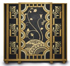 Art Deco screen by Ann Onusko for  Pieter Bouterse Studio. (Quite a replica of the screen a few pins down/over....but that's what they do...)