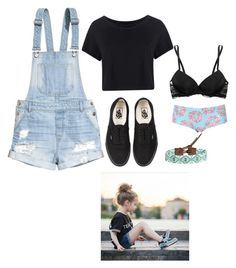 """Sam-spending the day with Leah"" by xxmia-hood-xx ❤ liked on Polyvore featuring Topshop, Boohoo, H&M, Calvin Klein Underwear, Vans and Chan Luu"