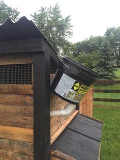 bucket on chicken coop