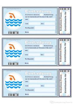 schwimmbad-geburtstag einladung | kindergeburtstag-planen, Einladung