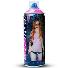 MTN x TILT - PAULINE SPRAY CAN | Limited Edition Designer Toys Spray Can, Designer Toys, Graffiti Art, Tilt, Street Art, Canning, Canvas, Bottle, Tela