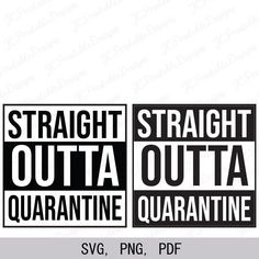 Excited to share this item from my shop: Straight Outta Quarantine SVG, Quarantine SVG Vinyl Crafts, Vinyl Projects, Funny Relatable Quotes, Nursing Notes, School Signs, Last Day Of School, Silhouette Machine, Cricut Creations, Svg Files For Cricut