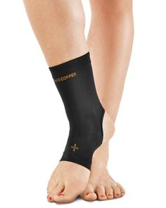 Tommie Copper Women's Recovery Compression Ankle Sleeve Black