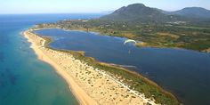 Chalikounas - long and sandy beach, popular among wind surfers and kite surfers; beach in Corfu, Ionian Islands Beautiful Islands, Beautiful Beaches, Corfu Beaches, Corfu Island, Places Of Interest, Athens, Places To See, Country Roads, Outdoor