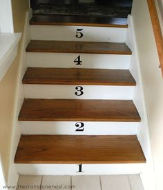 pretty numbers up the stairs....