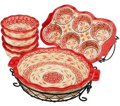 Temp-tations Bakeware--I have this set and LOVE cooking in it!