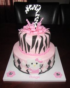 Hello Kitty + Zebra Cake