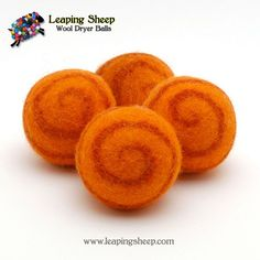 Leaping Sheep - Wool Dryer Balls {Sets of 4} - Choose from 6 color combos!
