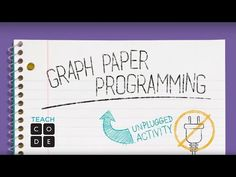 Unplugged Lesson in Action - Graph Paper Programming - YouTube