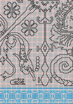"""working drawing 3 for Assisi embroidery design """"sea square"""""""
