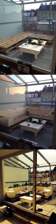 Made that pallet lounge with integrated plants for our new balcony Made that pallet lounge with integrated plants for our new balcony Related posts: How to build a desk from wooden pallets – DIY pallet furniture ideas DIY Pallet Desk Pallet Desk, Pallet Lounge, Diy Pallet Furniture, Built In Desk, Balcony Design, Diy Desk, Wooden Pallets, Indoor Garden, Relax