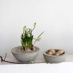 concrete bowl tutorial // Schale aus Beton selber machen - Anleitung