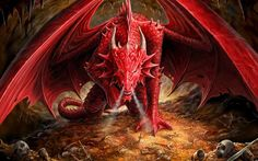cool Angry Red Dragon Wallpaper