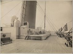 White Star Line OLYMPIC Boat Deck