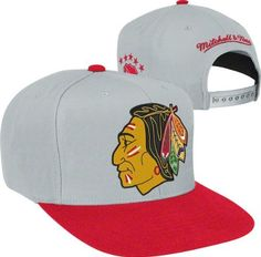 MITCHELL & NESS SNAPBACK 2 TONE BIG LOGO NHL CHICAGO BLACKHAWKS RED/GRAY by Mitchell & Ness. $24.99. Hey fans--if you are looking for a simple yet timeless way to display your Chicago Blackhawks pride, then try this Mitchell & Ness hat on for size. With an adjustable back, bold team colors and quality construction, this Chicago Blackhawks Cool Grey M 2-Tone XL Snapback Hat is the perfect addition to your growing collection of Blackhawks apparel.