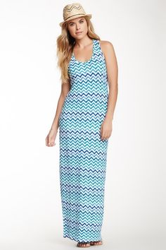 Printed Racerback Maxi Dress by Loveappella on @HauteLook