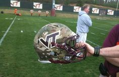 Virginia Tech To Wear Camo Helmets To Support Wounded Warrior Project #Hokies