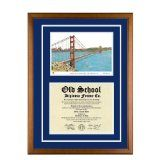 Golden Gate University California Diploma Frame with GGU Lithograph Art PrintBy Old School Diploma Frame Co.