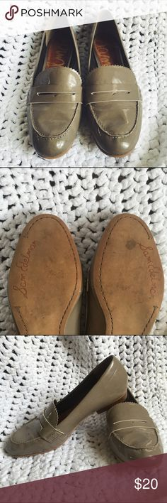 Patent leather loafers Greyish beige, really interesting color. Well made loafer, so comfortable! Sam Edelman Shoes Flats & Loafers