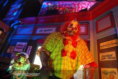 "HHN 2011, Universal Studios Hollywood    Monstrosities of all shapes and sizes can be found in Halloween Horror Nights Hollywood's ""Klownz"" scarezone.    Photo by Albert Lam & Dan Angona, courtesy Westcoaster.net."