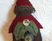 Green and Tan Felt Christmas Mill Decoration. $14.00, via Etsy.