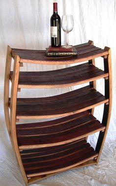 Wine Barrel Bookcase - 100% recycled Napa valley barrel. etsy.com