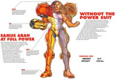 Samus Aran - from the Super Metroid player's guide