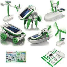 6 in 1 DIY Robot Kit Solar Powered Robot For Children Education. Solar Robot Kit Educational DIY 6 in 1 Children 's Gift. Diy Solar, Solar Car, Solar Panel Kits, Solar Panels, Solaire Diy, Solar Powered Toys, Robot Kits, Diy Robot, Science Toys