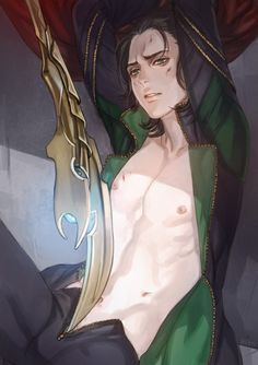 Loki being hotter than hell