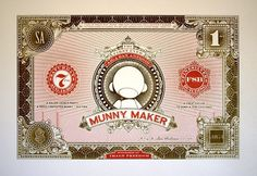Event Identity : AIGA San Antonio Munny Maker   Dollar ReDe$ign Project